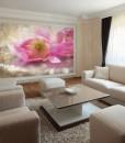 Tapety do pokoju gościnnego – Fototapeta z różowym tulipanem