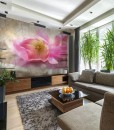 Fototapeta z różowym tulipanem