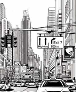 fototapety panorama miasta
