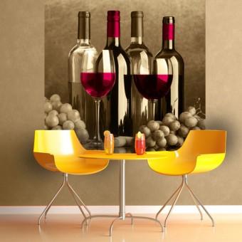 fototapeta kuchenna wino