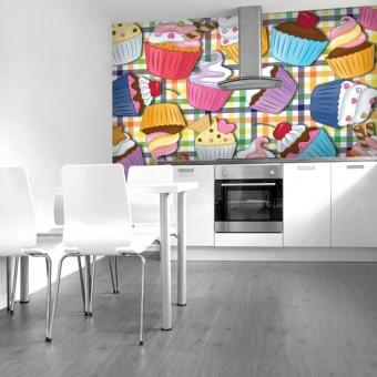 fototapety w kuchni - dekoracje z ciasteczkami