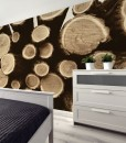 dekoracje z kłodami z drewna
