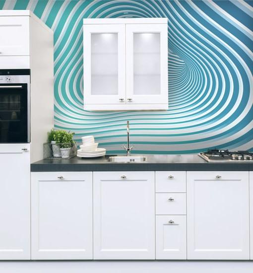 Tapeta do kuchni zmywalna – tapety z przejściem