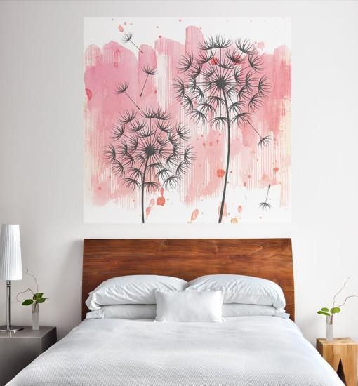 Fototapeta do sypialni cena – ozdoby z dmuchawcami