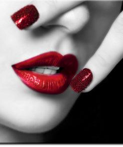 tapety z ustami i paznokciami