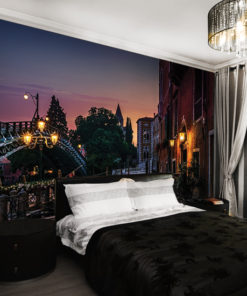 fototapeta z uliczką do sypialni