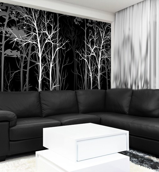 dekoracja z lasem