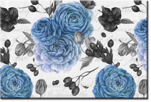 tapety z niebieskimi kwiatami