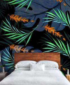 tapeta z tropikalnym wzorem