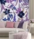 tapeta z fioletowymi kwiatami