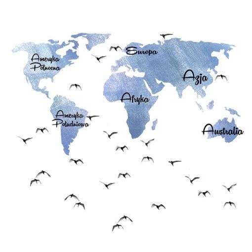 fototapety z mapą świata