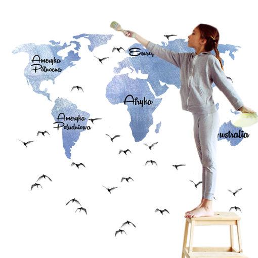 ozdoby z mapami świata