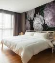 piękna tapeta do sypialni – kwiaty