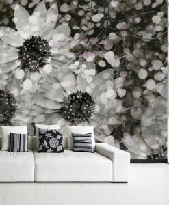 foto-tapeta botaniczna, sepia