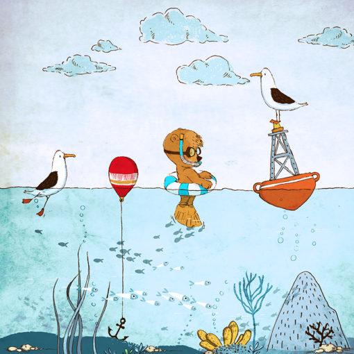 tapeta zabawy nad wodą