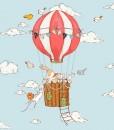tapeta zajączek w balonie