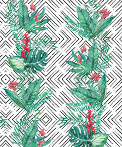 zielone dekoracje na ściany