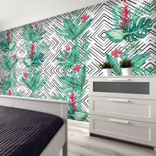 dekoracja z motywem roślinnym
