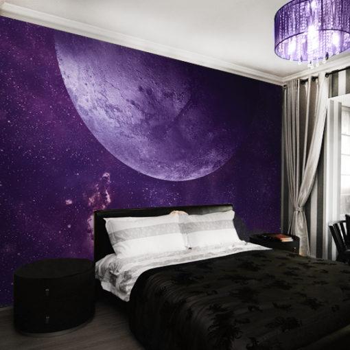 tapeta fioletowy kosmos