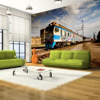 fototapety pociągi