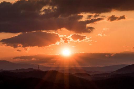 tapeta z zachodem słońca