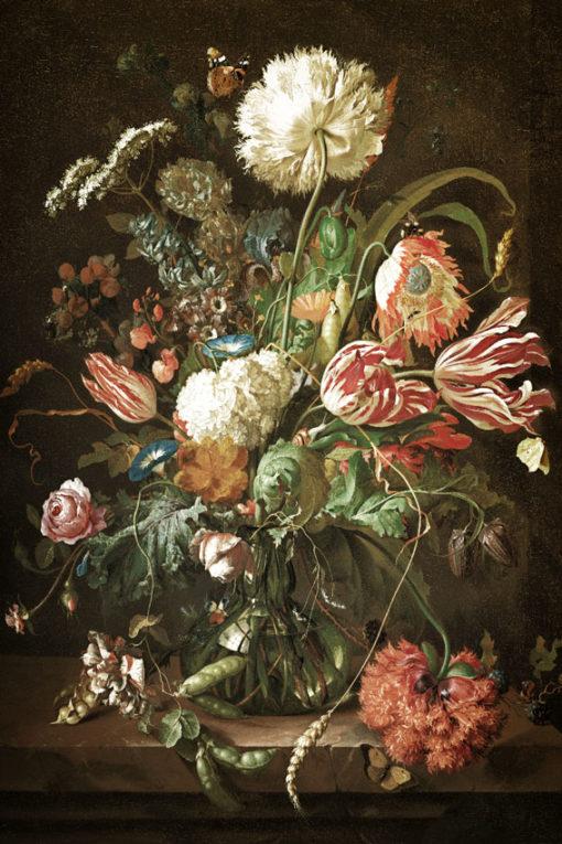 tapeta z wzorem kwiatowym