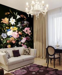 tapeta z bukietem kwiatów