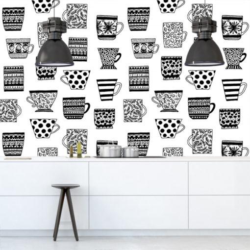 tapeta czarno-biała