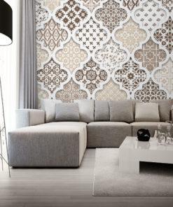 tapeta z marokańskim wzorem