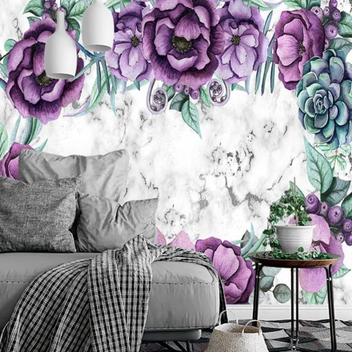 Fototapeta z kwiatami do salonu