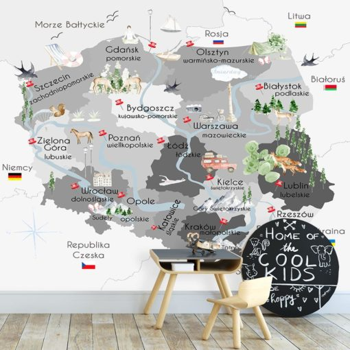 Tapeta polska mapa