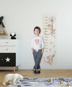 samoprzylepna miarka wzrostu do pokoju dziecka