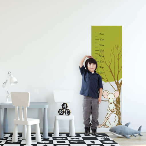 Miarka wzrostu drzewo i myszka