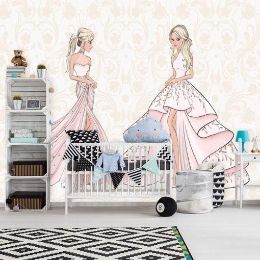 Fototapeta lalki w różowych sukniach
