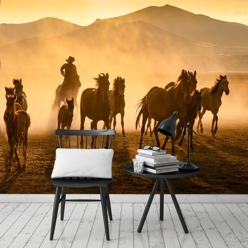 Tapeta na ścianę z motywem koni