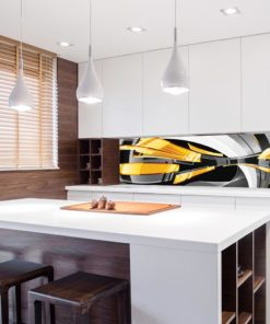 żółta abstrakcja fototapeta kuchenna
