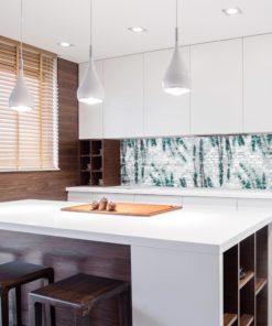 Tapeta na ścianę do kuchni z motywem lawendy