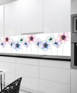 Tapeta do kuchni z fioletowymi kwiatkami