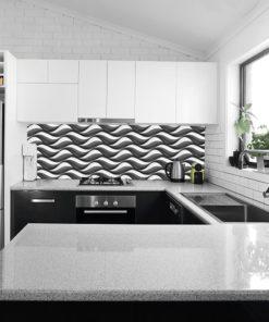Fototapeta kuchenna falowany wzór