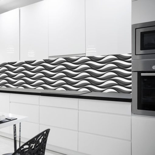 Czarno-biała fototapeta kuchenna