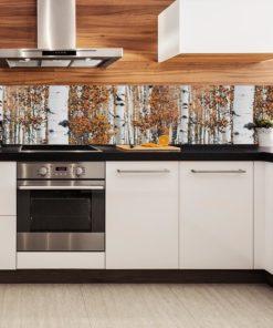Tapeta kuchenna z motywem drzew