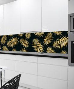 Fototapeta kuchenna w liście palmy