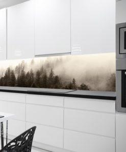 Fototapeta kuchenna z lasem