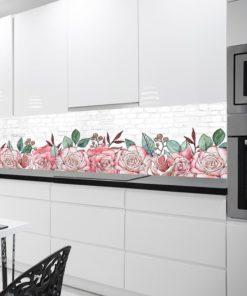 Fototapeta róże i cegły