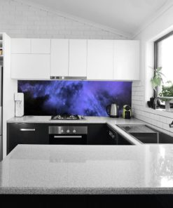 Fototapeta fioletowy motyw galaktyki