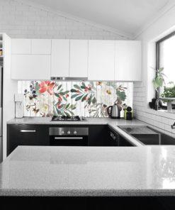 Kuchenna fototapeta z motywem kwiatów