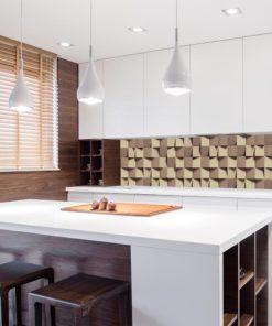 Tapeta w odcieniach beżu do kuchni