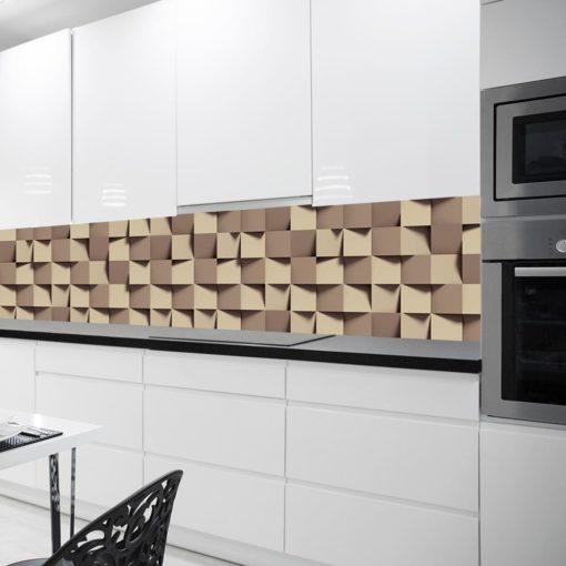 Tapeta w kolorze beżowym do kuchni