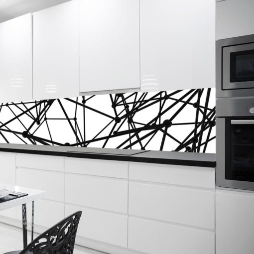 Czarno-biała fototapeta w geometryczne linie