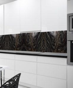 Czarna fototapeta do kuchni